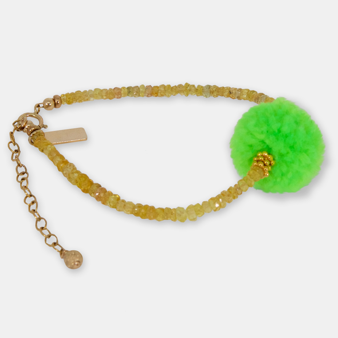 Seaweed Lace Middle Pom Pom by Sacred Confetti