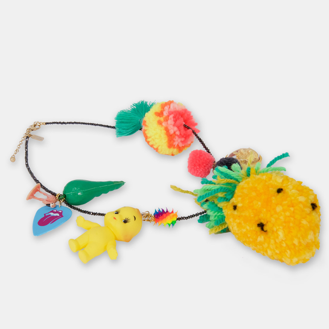 Pineapple PomPom Necklace by Sacred Confetti