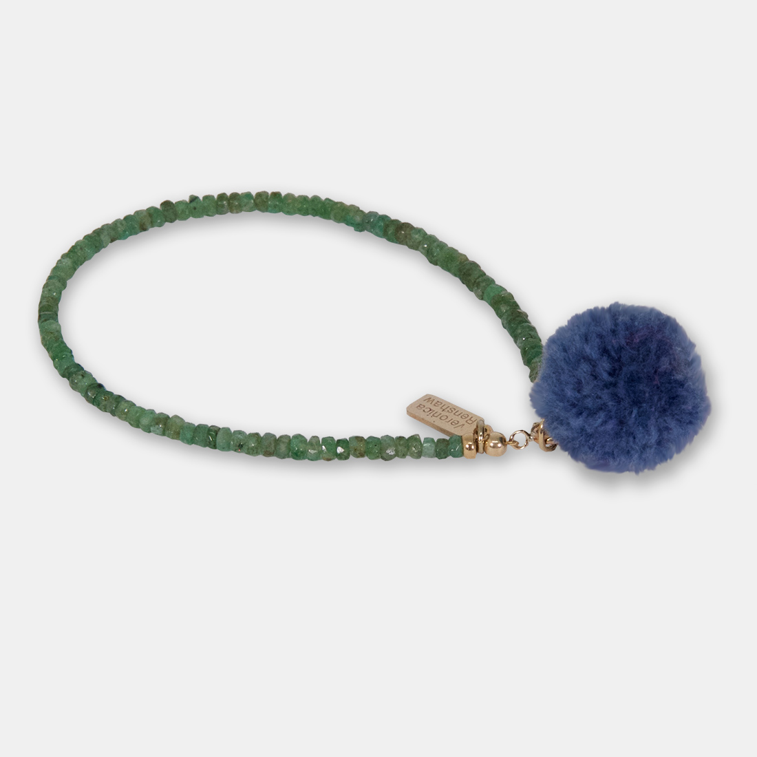 Denim Seaspray Side Pom Pom by Sacred Confetti